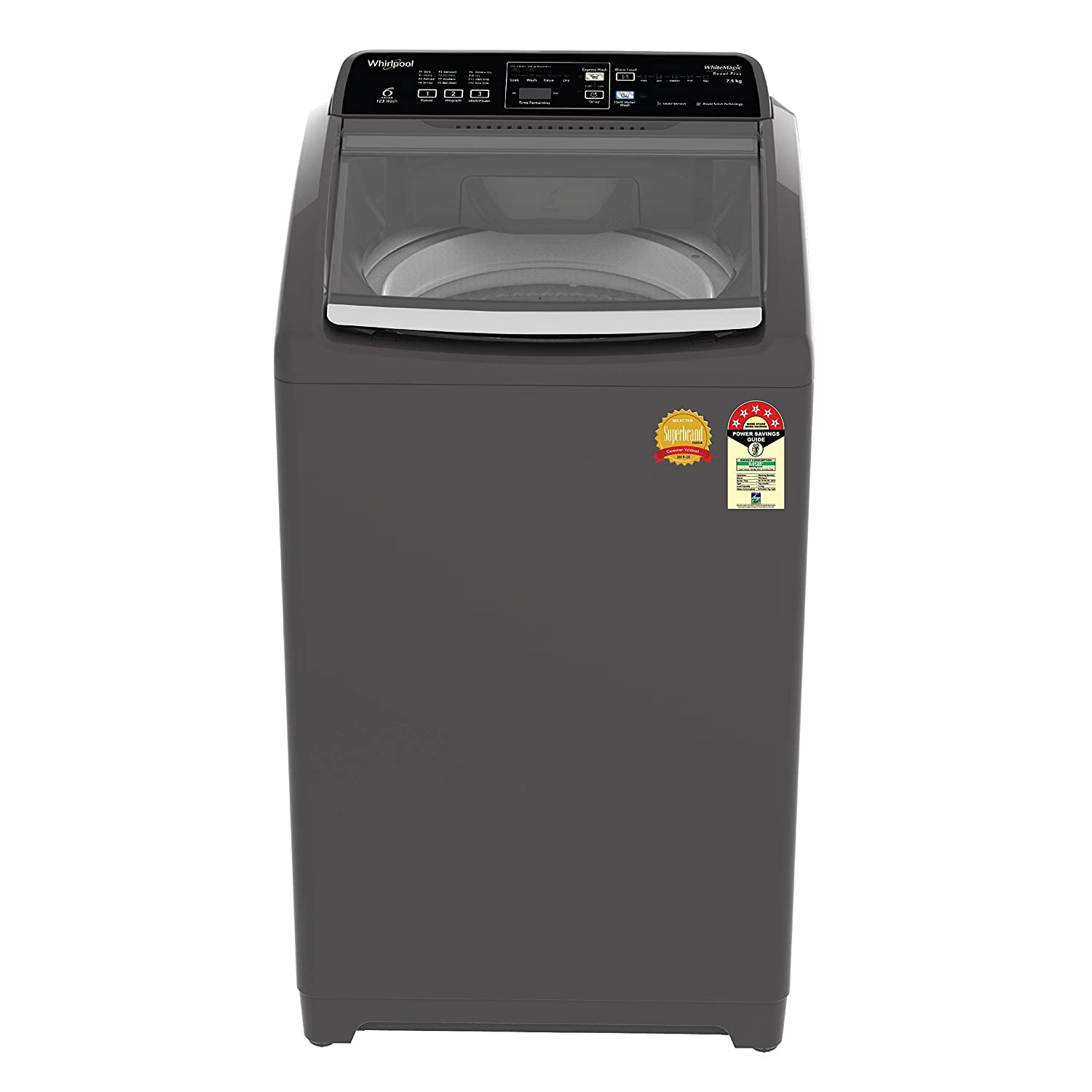 Whirlpool 7.5 Kg 5 Star Royal Plus Fully-Automatic Top Loading Washing Machine